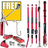 Level5 Full Extendable Handle Drywall Taping / Finishing Set with FREE Bonus Item (Free Nail Spotter)