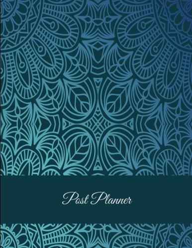 Post Planner: Mandala Blue Design, Daily Blogger