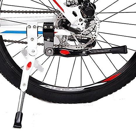 Black Bike Bicycle Adjustable Side Kickstand Prop Kick Stand Rubber Foot
