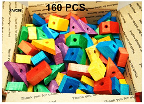 (Wooden blocks Colored wood for bird parrot toy parts macaw African grey)