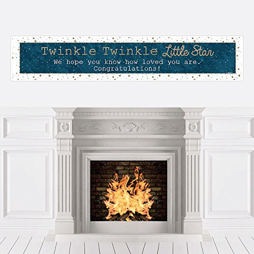 Big Dot of Happiness Twinkle Twinkle Little Star - Baby Shower Decorations Party Banner