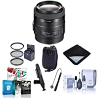 Sony 35mm f/1.4 G-Series Lens for Alpha A DSLR Mount Cameras - Bundle with 55mm Filter Kit, Lens Pouch (Medium), Lens Wrap (15x15), Cleaning Kit, Cap Leash, LensPen Lens Cleaner, Software Package