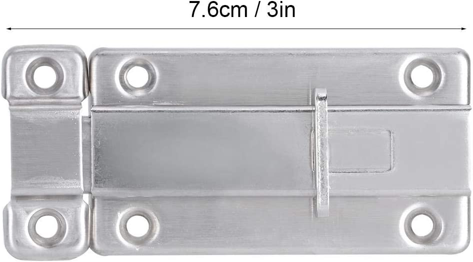 DOACT Stainless Steel Door Bolt Security Guard Anti-Thief Door Latch Hardware Fittings 4Pcs