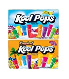 Kool Pops Freezer Pops Fruit Flavored and Tropical Flavored Ice Pops ( 15 flavors ) 1.5 oz each