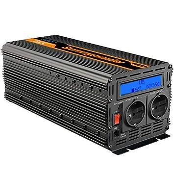 EDECOA Inversor 24v 230v convertidor 3000w onda modificada ...