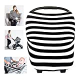 Multi-Use Stretchy Car Seat Cover Nursing Breastfeeding Cover Scarf Baby Stroller Cover Canopy Shopping Cart Cover Swaddle Blanket for Infants Newborns Toddlers