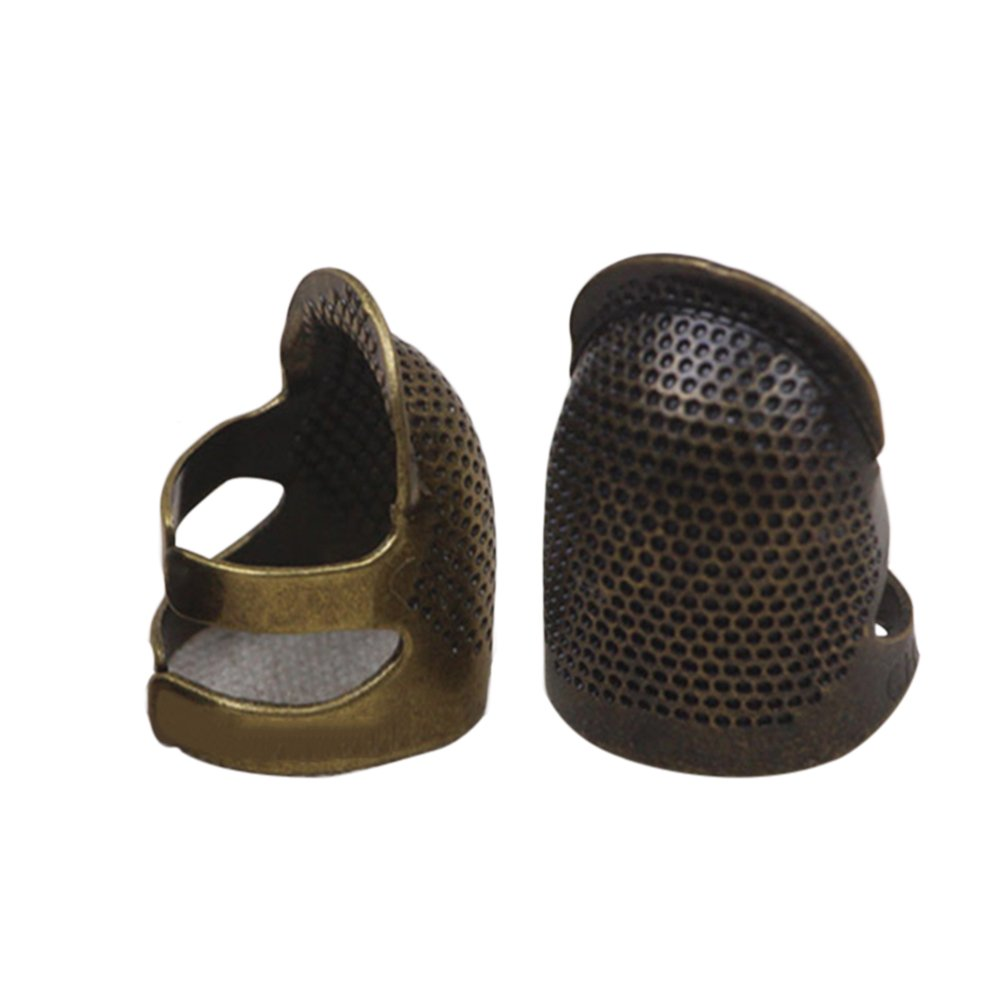 ULTNICE DIY Sewing Thimble Finger Protector Metal Shield Protector Pin Needles 1PCS (Bronze)