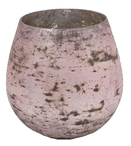 Vase Foil, Glas 26 cm, pink   Windlicht Leuchter rosa