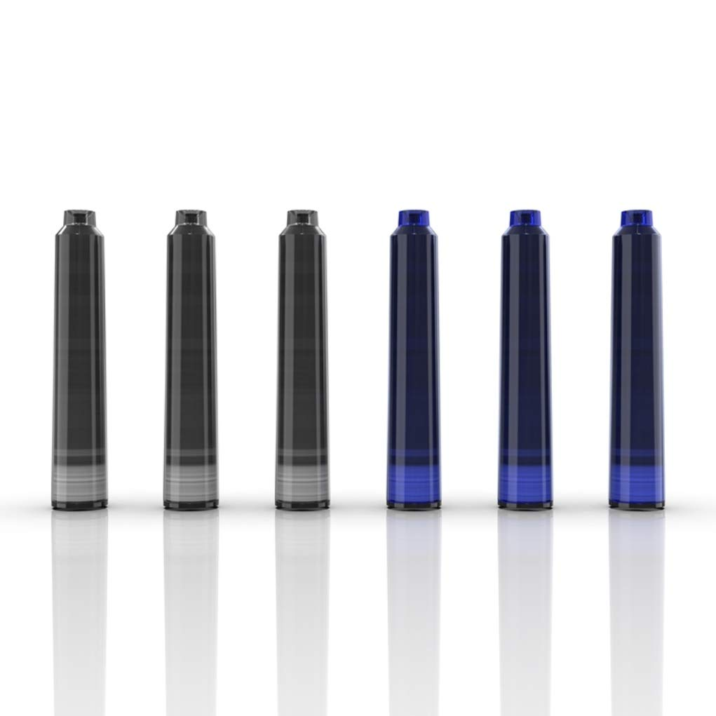 Set de pluma estilogr/áfica Wordsworth /& Black convertidor de tinta y lujoso estuche de regalo Incluye 6 cartuchos de tinta Herramienta de caligraf/ía y escritura de plum/ín mediano