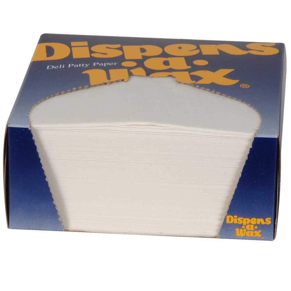 Dixie Dispens-A-Wax Deli Patty Paper, 4 3/4 x 5 inch -- 24000 per case.
