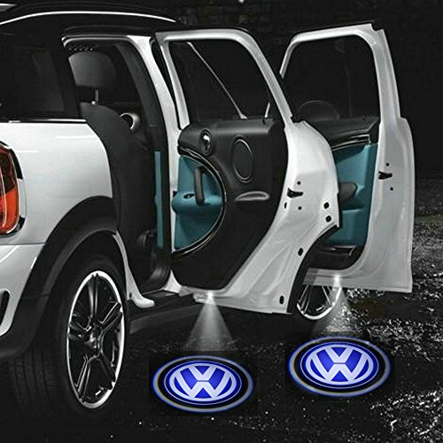2 X 5th Gen LED car door Ghost Shadow laser projector logo light for Volkswagen VW Golf 4 5 6 Polo Passat Multivan Transporter Caddy Beetle Jetta CC Scirocco Tiguan Touran Touareg Eos Phaeton GTI