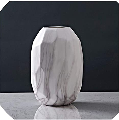 Solarwind2 Vases Nordic Style Marble Ceramics Vase Living Room Dining Table Modern Home Decoration Accessories Modern Wedding M Home Kitchen