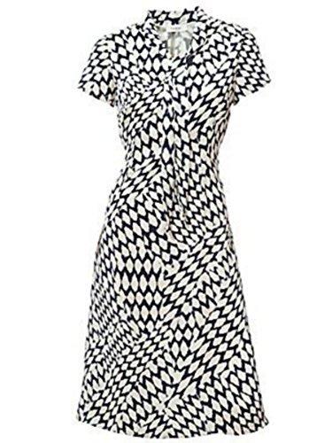 Kleid Sommerkleid von CLASS in Weiß/Blau - Gr. 36