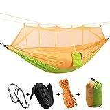 Double Hammocks ,Lightweight Portable Double Parachute Hammocks,Outdoor & Indoor Backyard Hiking Backpacking Tree Hammocks - 04