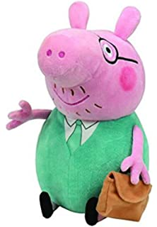 NLiving Beanie Baby Peppa Pig - Daddy Beanie Buddy Large Plush Toy 33 cm 4869a43e3420