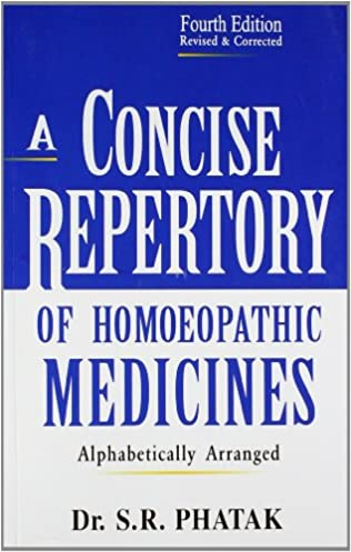 DOWNLOAD PDF A CONCISE REPERTORY OF HOMEOPATHIC MEDICINES