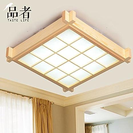 TYDXSD Tatami de techo de madera moderna lámpara de techo ...