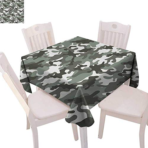 cobeDecor Camouflage Customized Tablecloth Monochrome Attire Pattern Camouflage Inside Vegetation Fashion Design Print Tablecloth That can be Used as a Tapestry 70