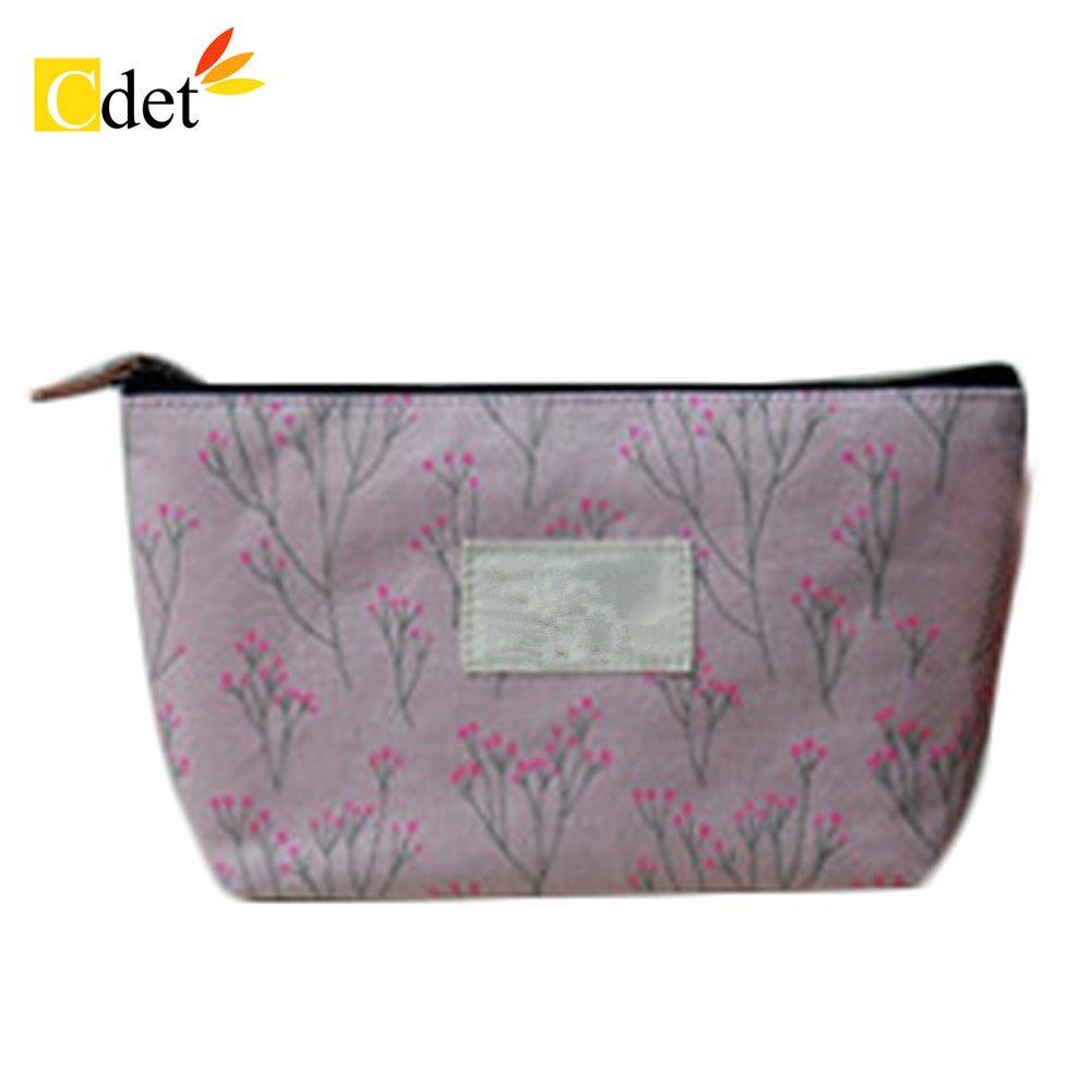 Cdet Bolso de cosméticos estilo pequeño floral cosmetic bag floral pack de gran capacidad mujer, Rosado