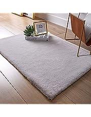QUANHAO Faux konijnenbont tapijt, ultra zacht fluweel gebied tapijt bont stoel bank cover gebied tapijt comfortabel tapijt anti-slip yoga mat slaapkamer vloer bank woonkamer Shaggy nachtkastje tapijten (grijs, 80x120cm)