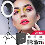Neewer 20-inch LED Ring Light Kit for Makeup Youtube Video Blogger Salon - Adjustable Color Temperature with Battery or DC Power Option, Battery, Charger, AC Adapter, Phone Clamp and Stand Included