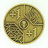MTG MAGIC THE GATHERING 1/1 & -1/-1 MTG COUNTERS Antique Gold Metal Coin