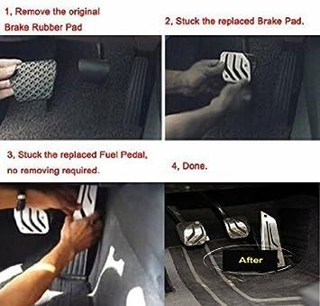 antideslizante Pedal de freno de gas sin taladro para pedal de freno F30 F31 316i 318d 318i 320i 328i 335i 1 3 4 series RHD de acero inoxidable
