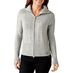 Smartwool Women's Ski Town Sweater, Silver Gray Heather, Medium