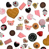 50 pcs Mixed Food kawaii flat back resin cabochons DIY decoration Cell Phone Nail Art Beauty Ornament Design hair snap beads resin beads (IMG1439