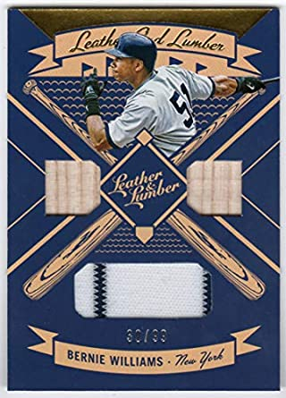 low priced d6284 a9789 Amazon.com: Bernie Williams 2019 Panini Leather & Lumber ...