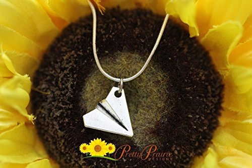 Paper Plane Necklace - Aviation Jewelry - Gifts for Pilots - Taylor Swift Jewelry - Harry Styles Necklace - Airplane Pilot Gift
