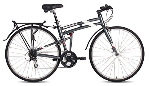 New Montague Urban Folding 700c Pavement Hybrid Bike Smoke Silver 21inch