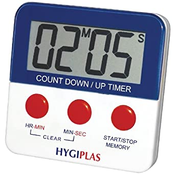Hygiplas Magnetic Countdown Timer 63X63mm Kitchen Catering Food ...