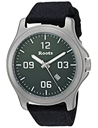 Roots Men's 'Core' Quartz Stainless Steel and Canvas Casual Watch, Color:Black (Model: 1R-LF400BA6B)