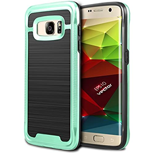 Galaxy S7 Edge Case, WINNETEK Hybrid [Slim Fit] [Shock Absorption] [Impact Resistant] Brushed Metal Texture Dual Layers Protection Soft Rubber Bumper Case for Galaxy Sales