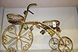 Exquisite Brass Bicycle Shaped Stand Planter, Shabby Chic, Elegant Art Decor, 2 Planters