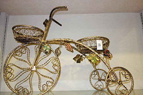 Exquisite Brass Bicycle Shaped Stand Planter, Shabby Chic, Elegant Art Decor, 2 Planters by hadaaya gift & home decor