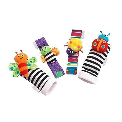 Apofly 4pcs Baby Infant Animal Wrist Wrist Rattles and Foot Finder Socks Set Educational Development Soft Toys Shower Gift Children\'s Educational Toys: Toys & Games [5Bkhe1405861]