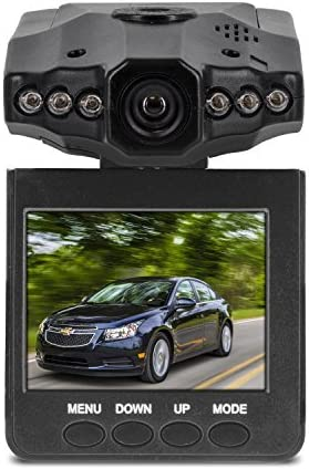 Aduro U-Drive DVR Video//Audio Dash Cam w//Infrared Night Vision LEDs Retail Packaging 2.4 LCD Screen Auto on//Off 270/° Rotation