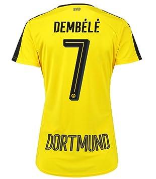 Puma Borussia Dortmund Home – Camiseta de fútbol 2016 2017 Mujeres dembele 7 amarillo negro