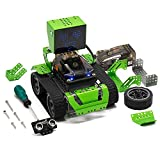 Robot Building Kit 6-in-1, Robotics for Kids Age 8+, Qoopers STEM Education Toy, Arduino Coding & Graphical Programming, Robobloq Metal Blocks (174 pcs)