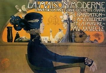 Amazon.com: J. Minot La Maison Moderne Vintage Poster Reprint 18x24 ...