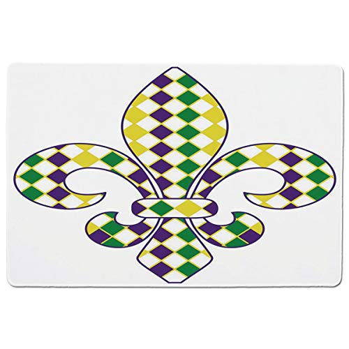 SCOCICI Premium-Textured Mouse Mat Pad Ancient Fleur De Lis with Traditional Festival Pattern Venetian Vintage Decorati,Non-Slip Rubber Base Mousepad,for Laptop,Computer,PC,Keyboard (23.6x15.7 inch)