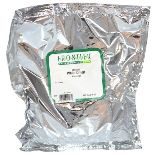 Frontier Natural Chopped White Onion 1 Pound (16 Ounces)
