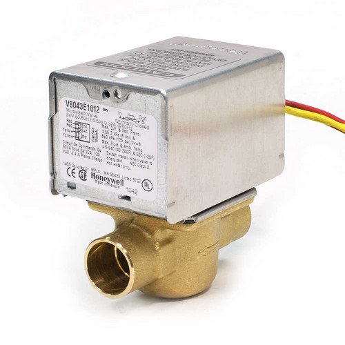 Honeywell V8043E1012 3/4'' Sweat Zone Valve (Connection = 18'' Leads) by Honeywell