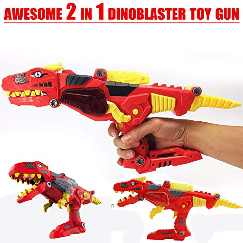 Euone  Dinosaur Toys Clearance Sale , Transforming Dinosaur Toy Lights Sound 2 in 1 T-Rex Super Charge Morpher Toy ()