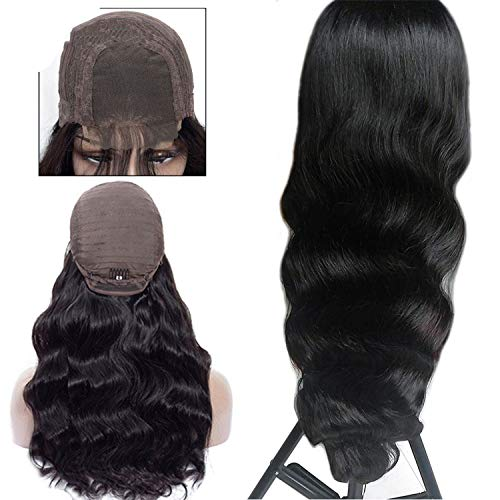 crack of dawn Lace Front Human Hair Wigs 4x4 Closure Lace Wigs Remy Brazilian Hair Body Wave Wig Lace Front Wig with Baby Hair,Natural Color,10inches