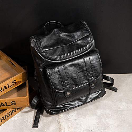 QWKZH Rucksack koreanische Studententasche Men Fashion Travel Large Capacity Herrenrucksack Casual Herrentasche
