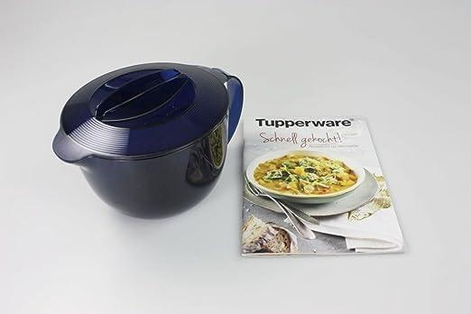 TUPPERWARE Microondas Micro Plus 1,0 l azul Jarra + Recetas rápido ...