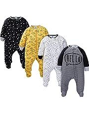 Gerber baby-boys 4 Pack Sleep 'N Play Footie